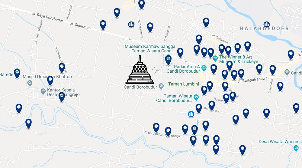 Hotels Borobudur carte