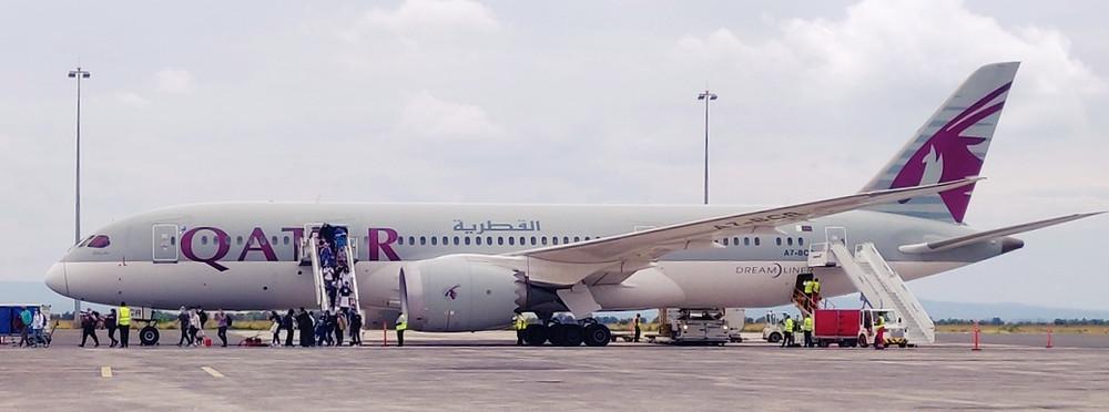 Qatar Aiways avion pendant covid