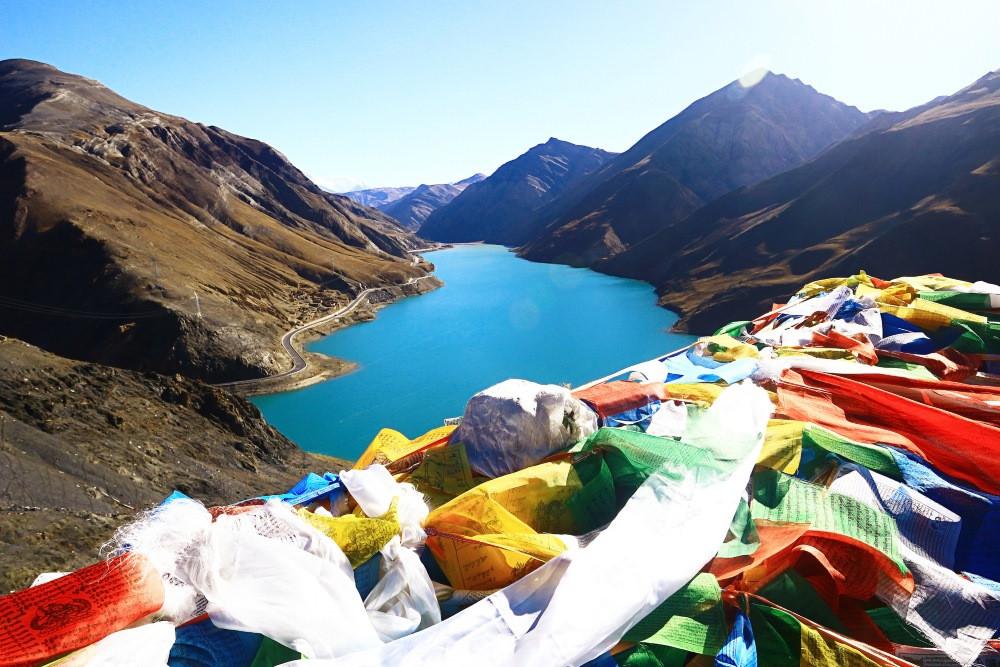 lac vert au tibet