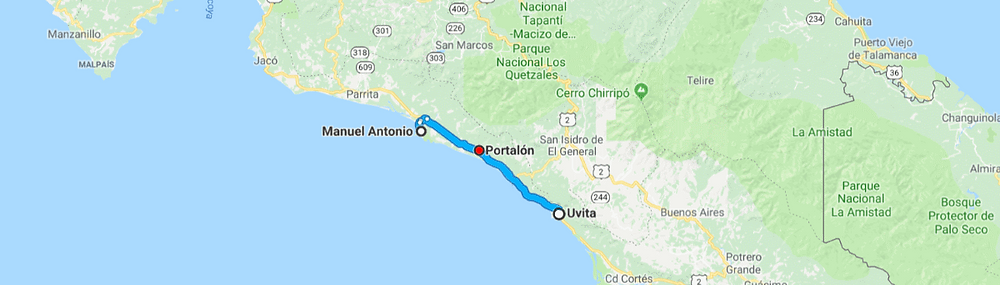 Portalon Costa Rica Carte