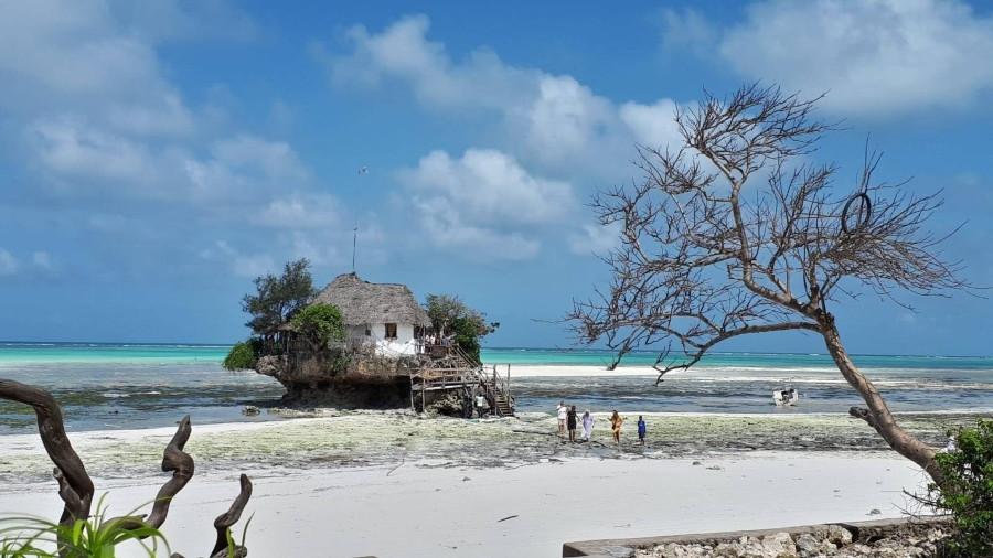rcok restaurant zanzibar vu de la plage