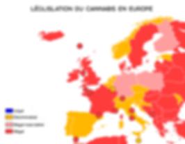 Canabis loi en europe fumer voyage