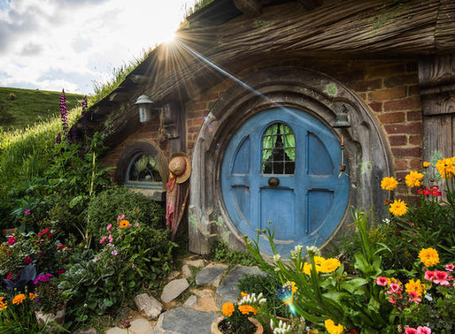 Le village des hobbits en Nouvelle-Zélande.
