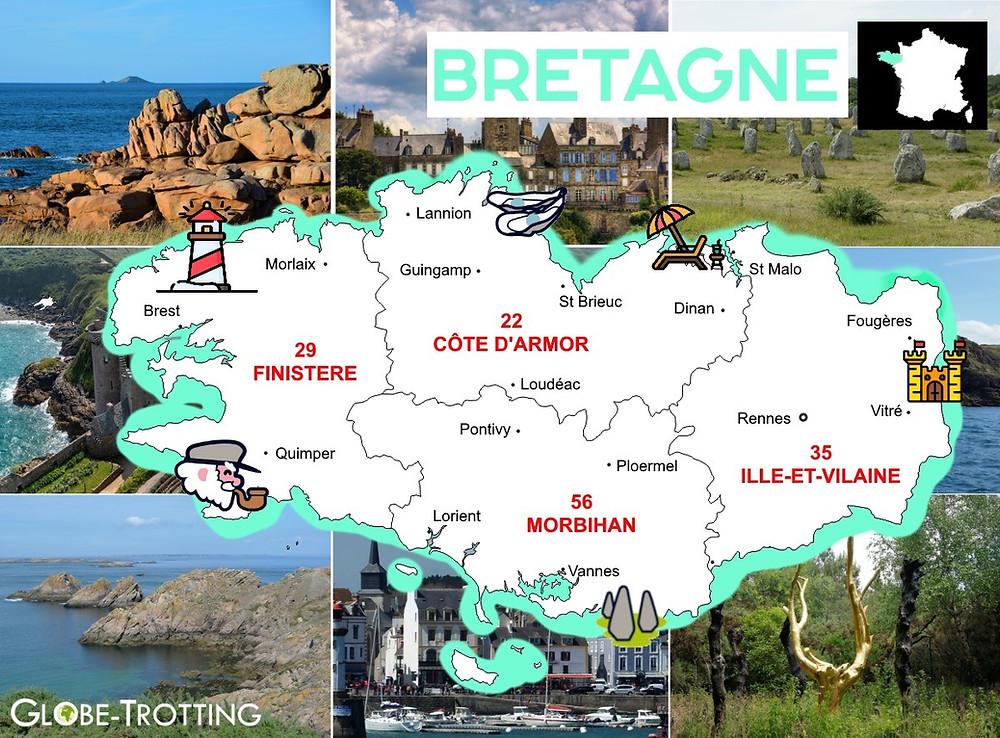 Carte que faire région Bretagne