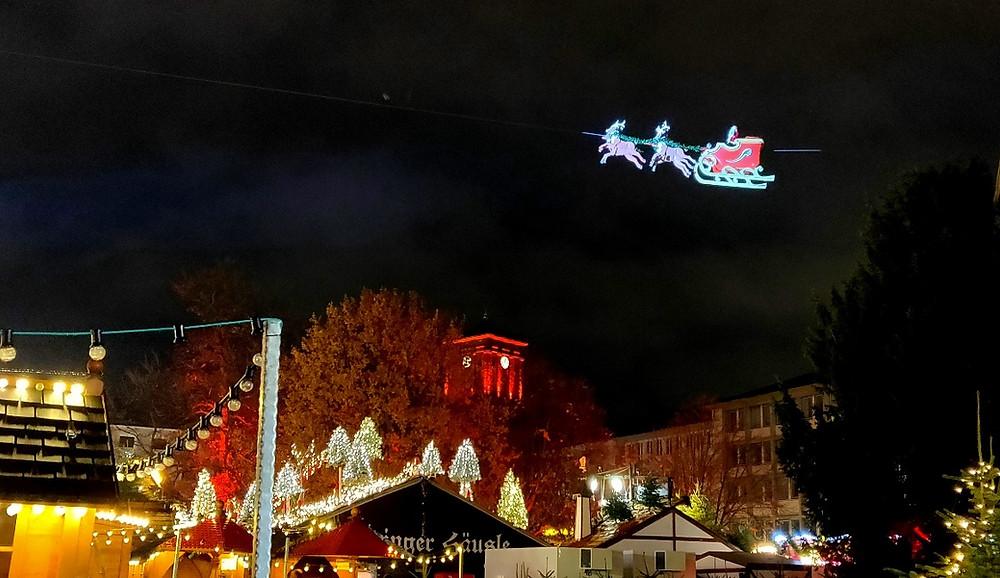 Karlsruhe père noel ciel