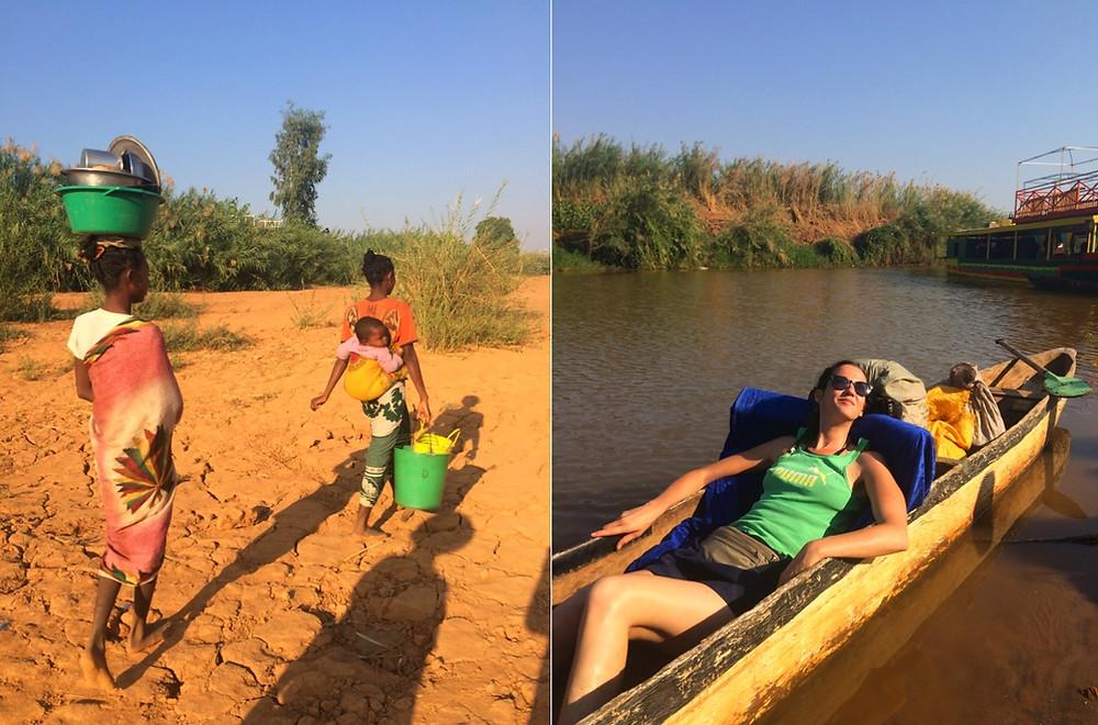 Tsiribihina en pirogue