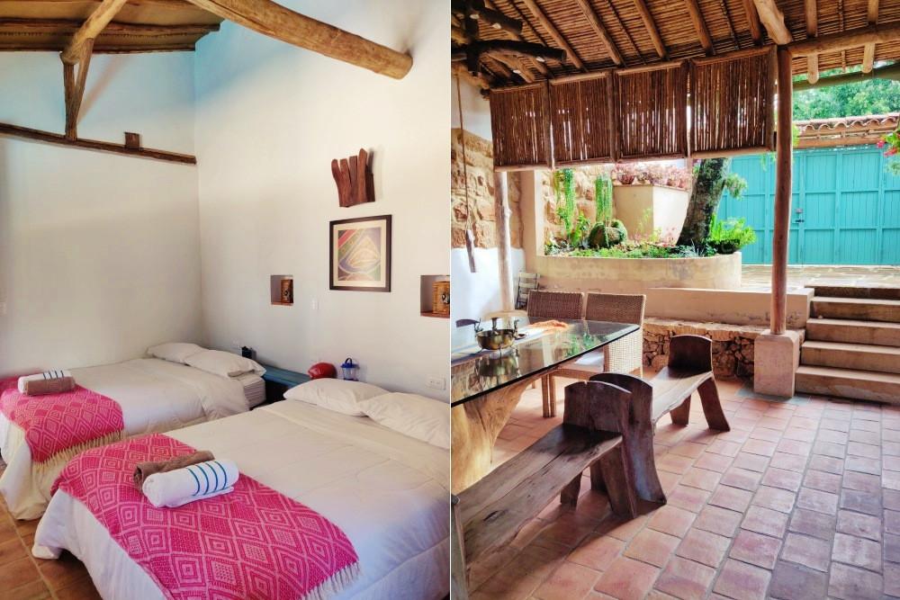 chambre Villa privée Barichara colombie