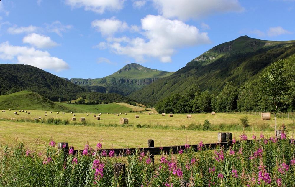 Monts du cantal France