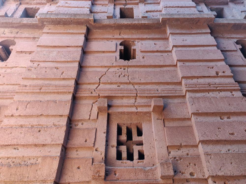 murs Lalibela et Bete gyorgis en Ethiopie