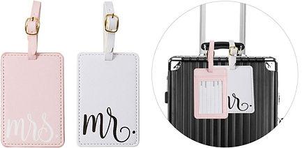 Etiquette bagages couple