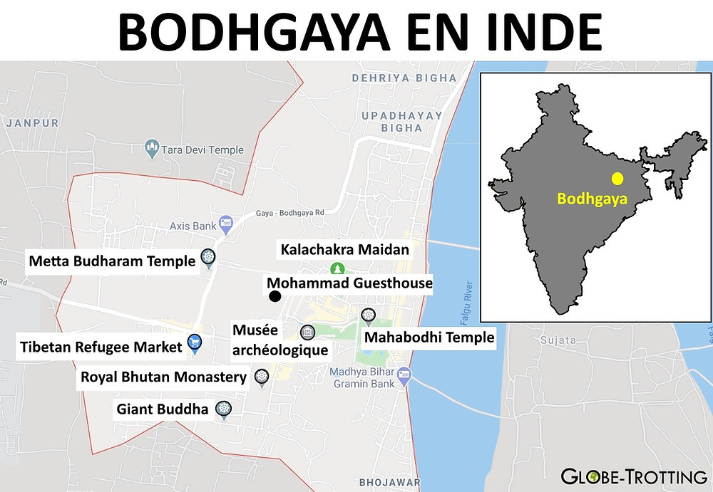 Bodhgaya Carte plan