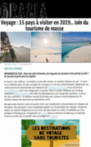 Article Blog voyage presse