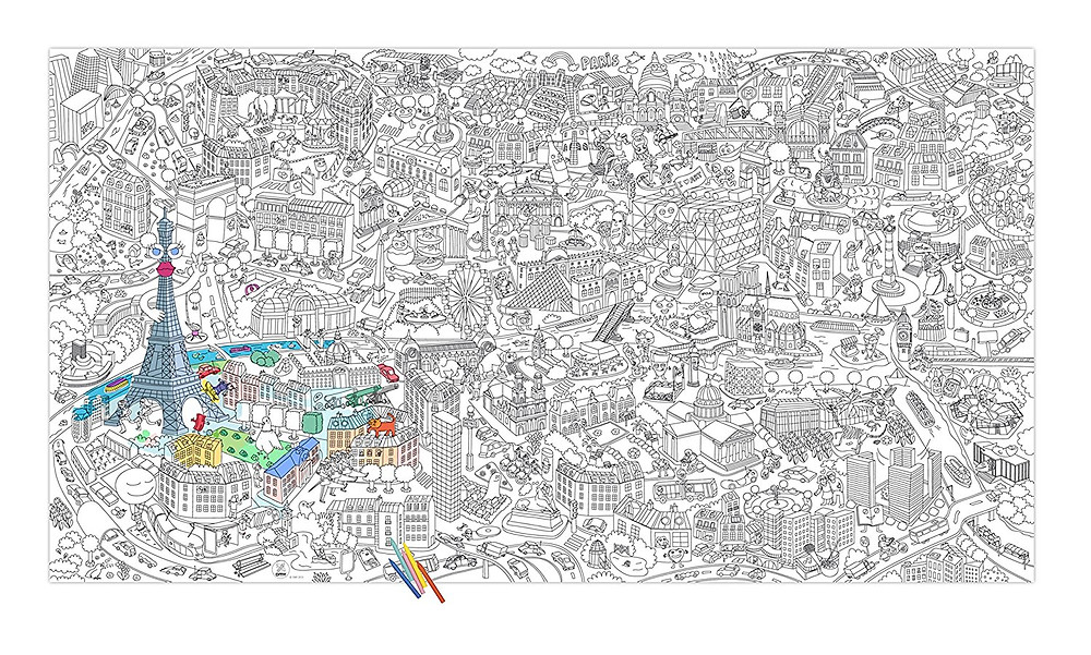 Coloriage poster géant monde