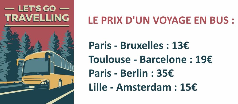 Prix voyage en bus Europe