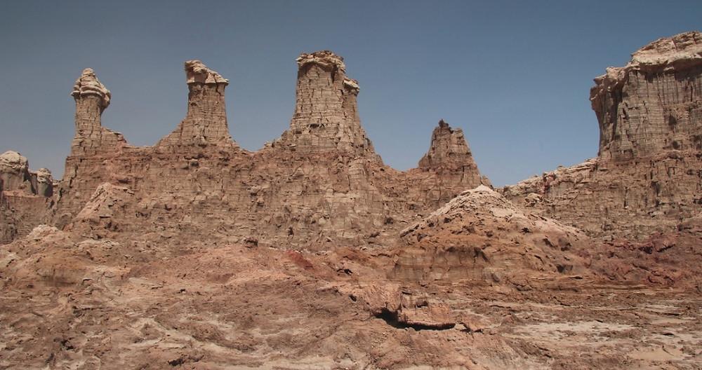 cheminées canyon de sel rose éthiopie