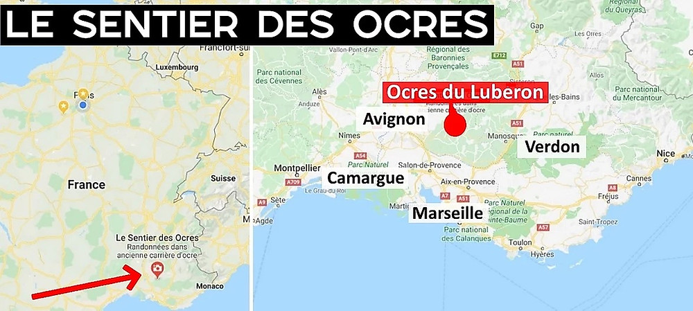 ocres lubéron carte de france