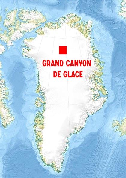 Carte grand canyon glace