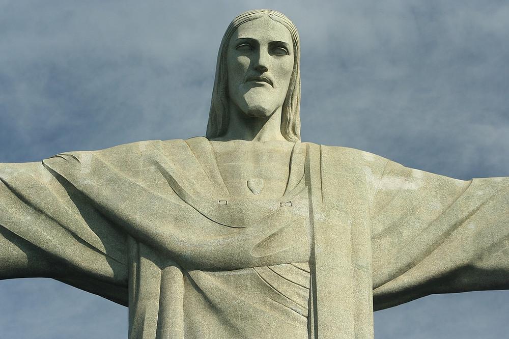 Christ Rédempteur Corcovado visage