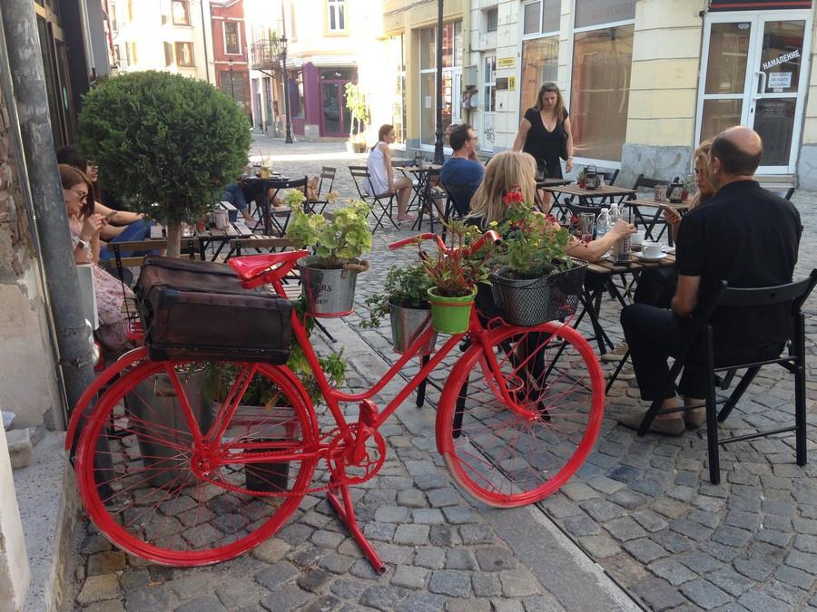 Plovdiv terrasses vieille ville