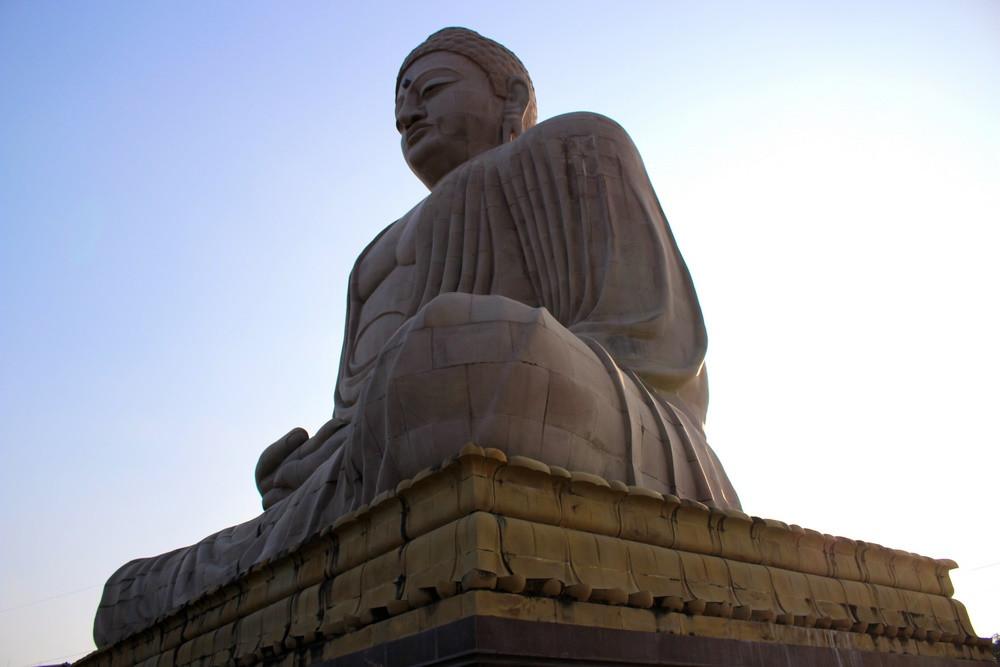 Bodhgaya - Grande Statue de Bouddha