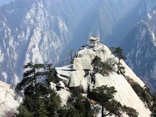 Les Temples du Mont Hua Shan en Chine