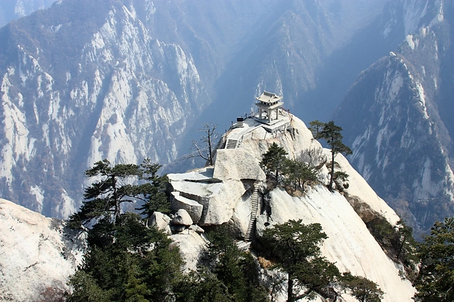 Temples du Mont Hua Shan en Chine