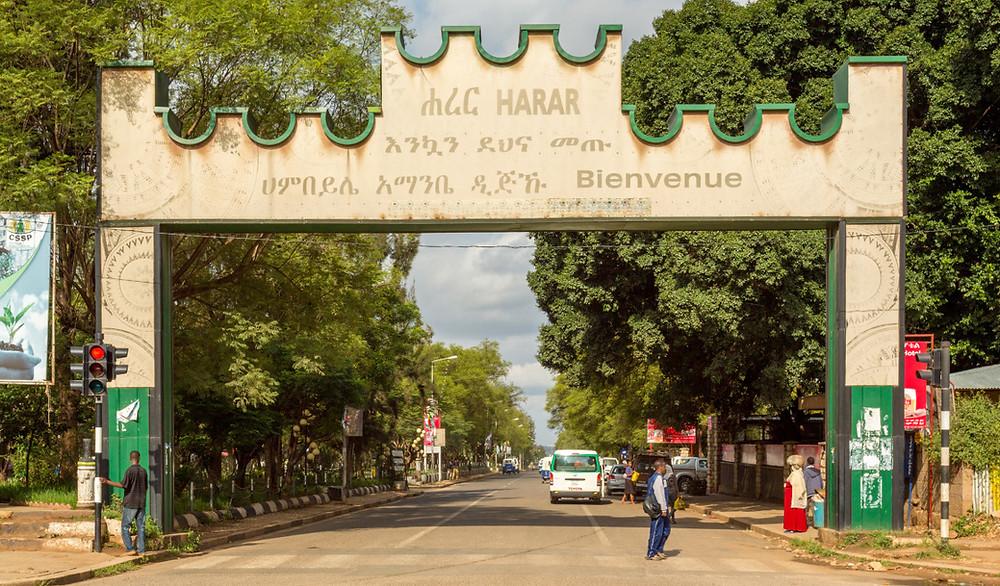 Harar porte ville