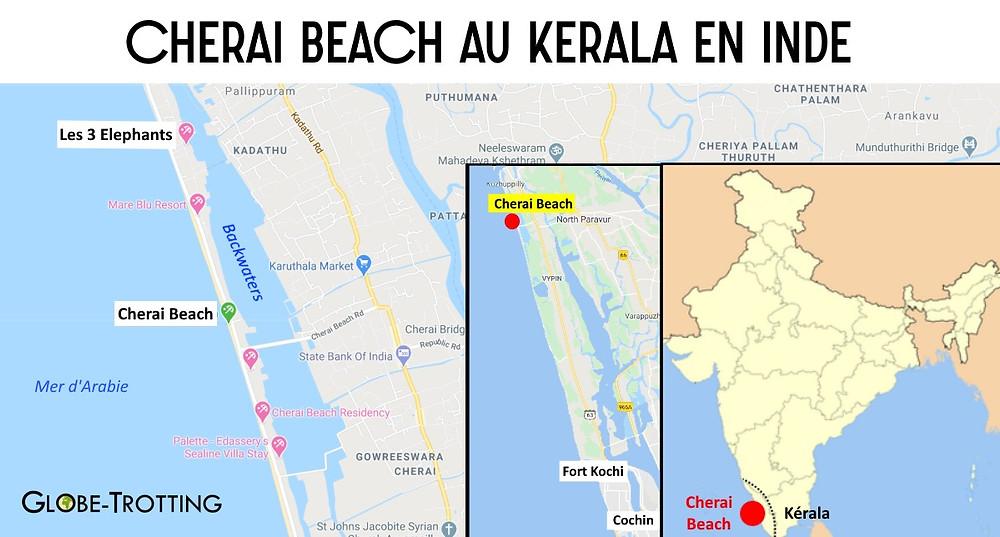 Carte Cherai Beach Inde