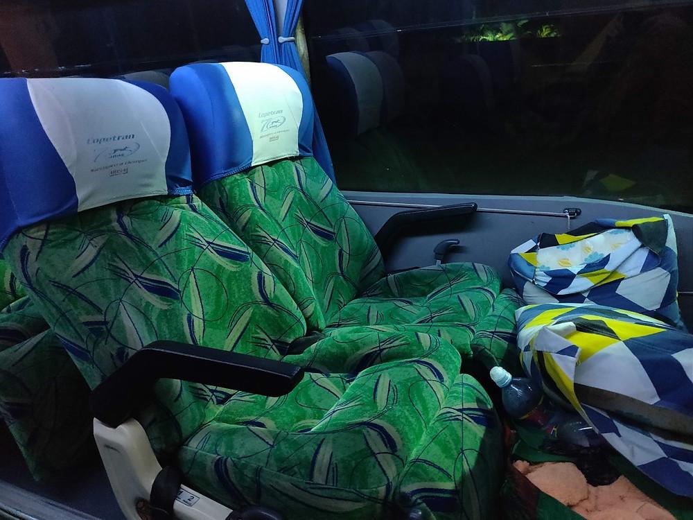 Bus de nuit Colombie confort fauteuils