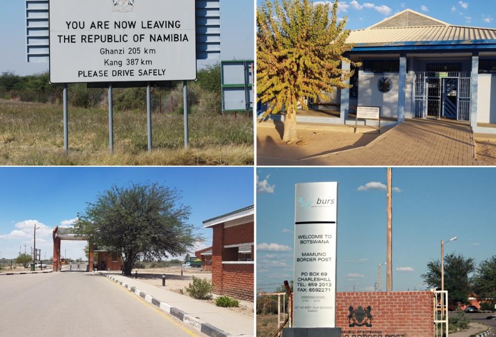 douane botswana namibie kalahari