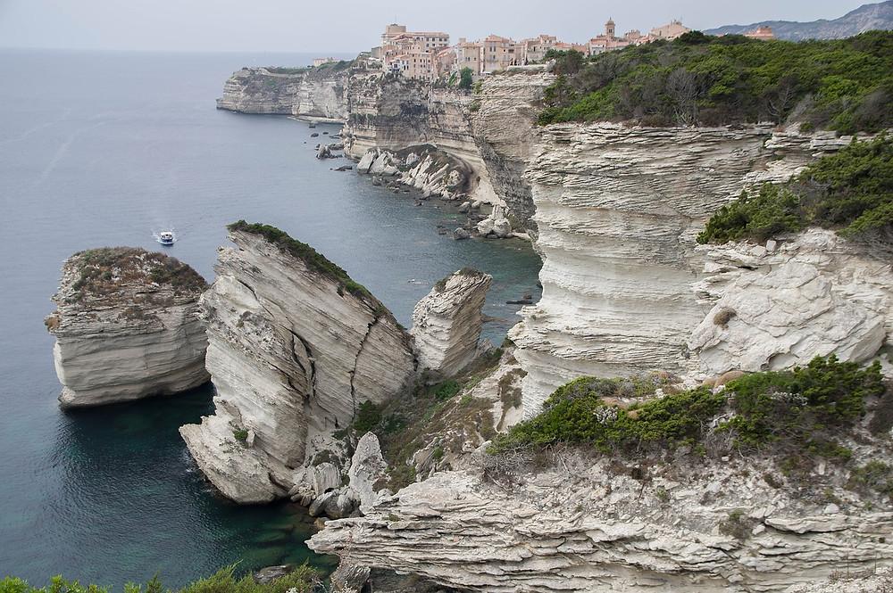 Bonifacio Falaise vue sur mer