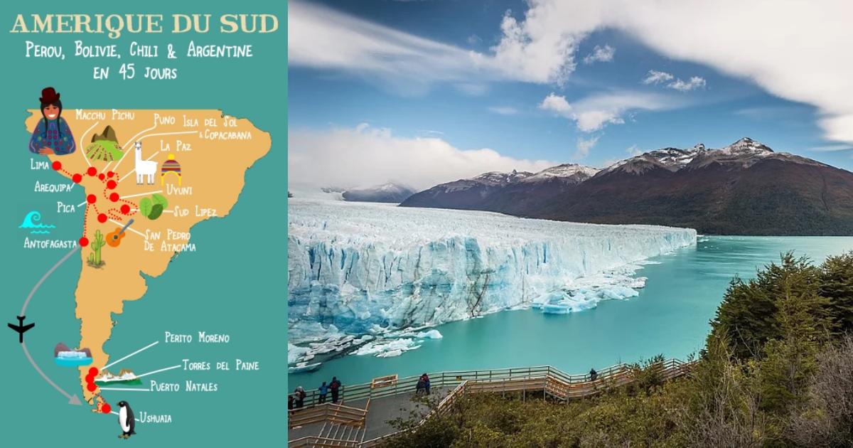 Trek Amerique Du Sud Carte.Itineraire Amerique Du Sud En 45 Jours Globe Trotting