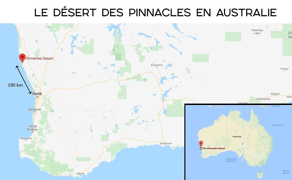 carte pinnacles desert
