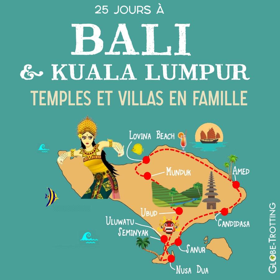 Bali départ Péninsule de Bukit itinéraire