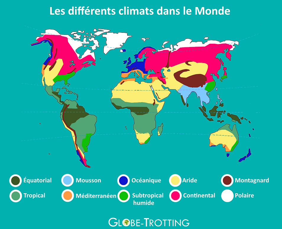 Carte Thailande Climat.Ou Et Quand Partir En Voyage Globe Trotting
