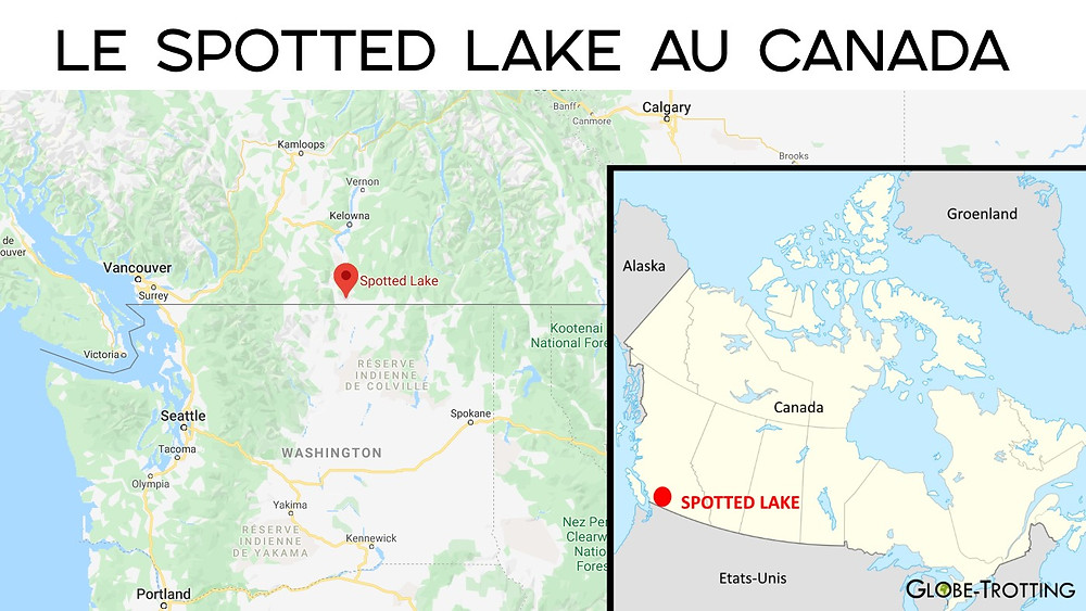 Carte spotted lake canada