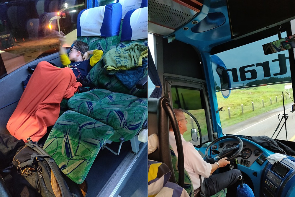 dormir dans un bus colombien