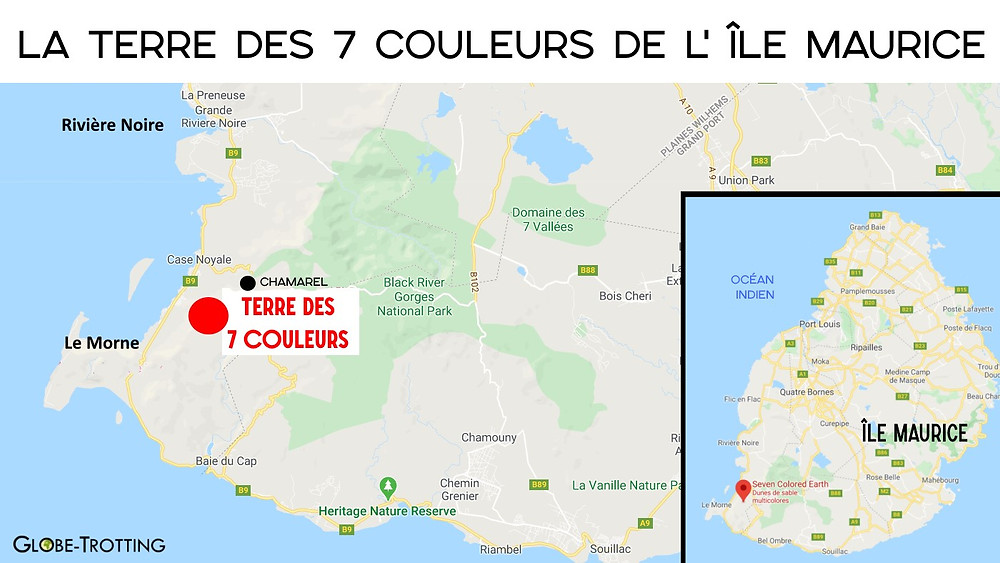Terres des 7 couleurs de l'île Maurice