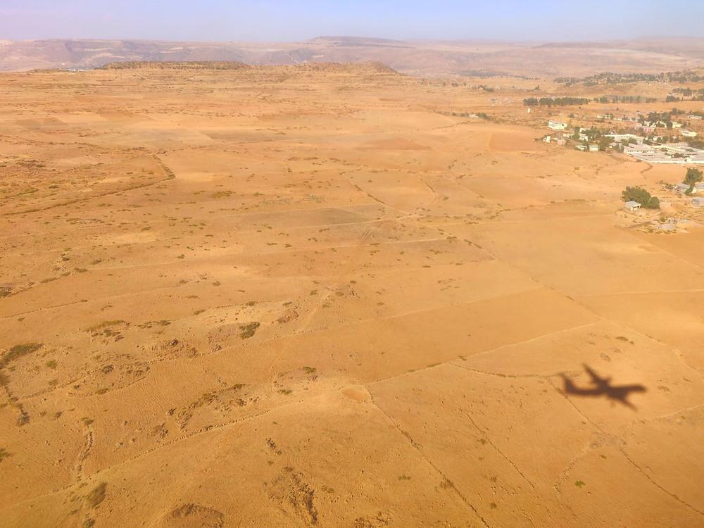 Mekele vue d'avion