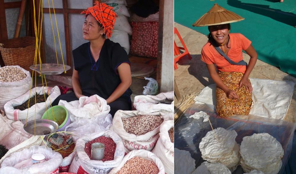 Nyaung Shwe Myanmar vendeuses de rue