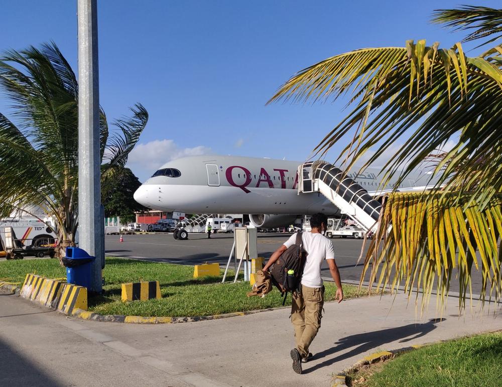 avion qatar airways covid
