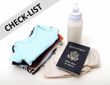 check list enfant bébés voyage