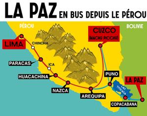 La Paz carte bus