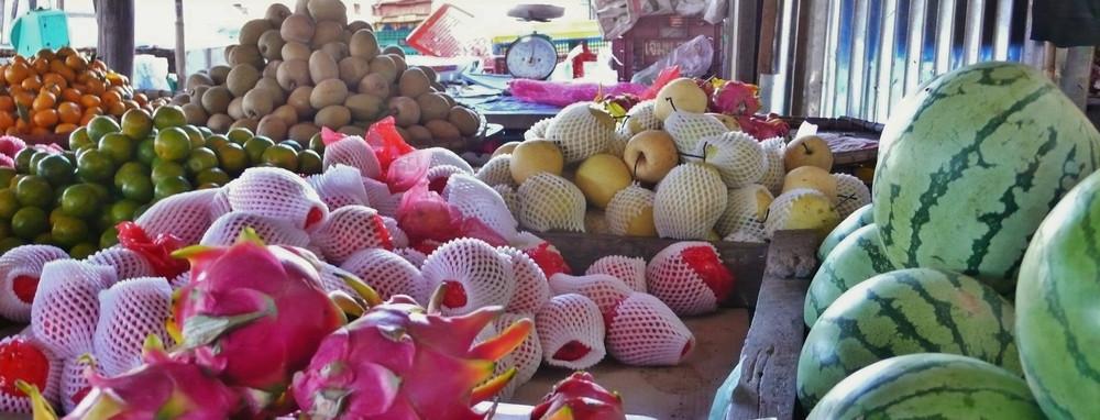 Marché fruits Don Khong 4000 îles Laos voyage