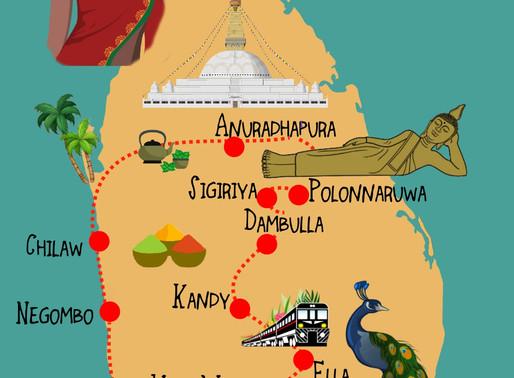 Le Sri Lanka avec un enfant, itinéraire d'un mois