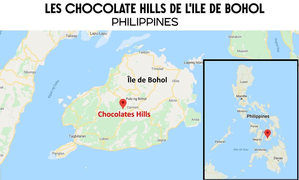 Carte chocolate hills map