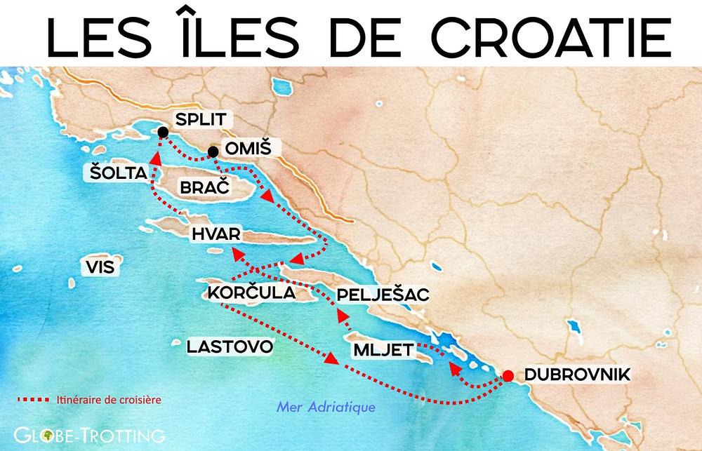 Iles croaties croisière omis