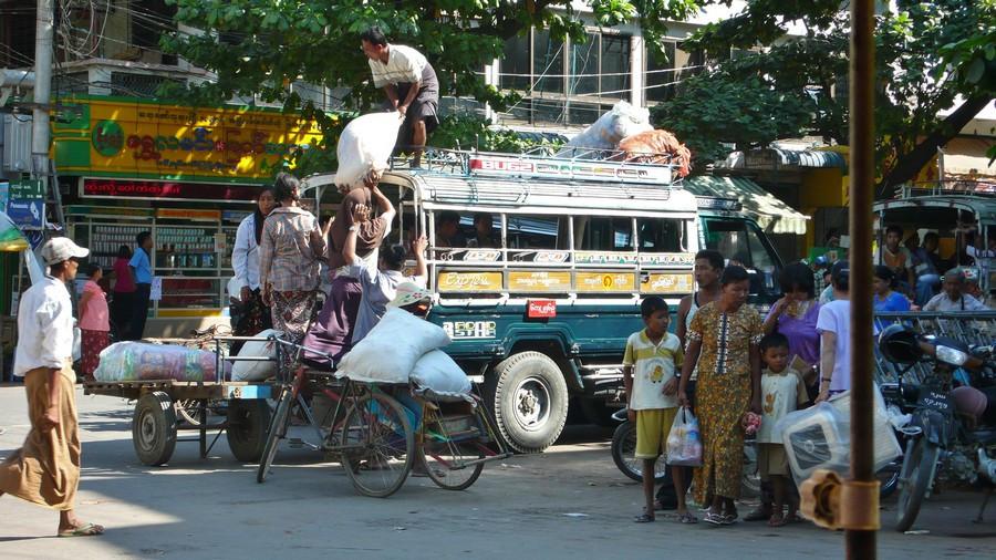 Mandalay rues en Birmanie