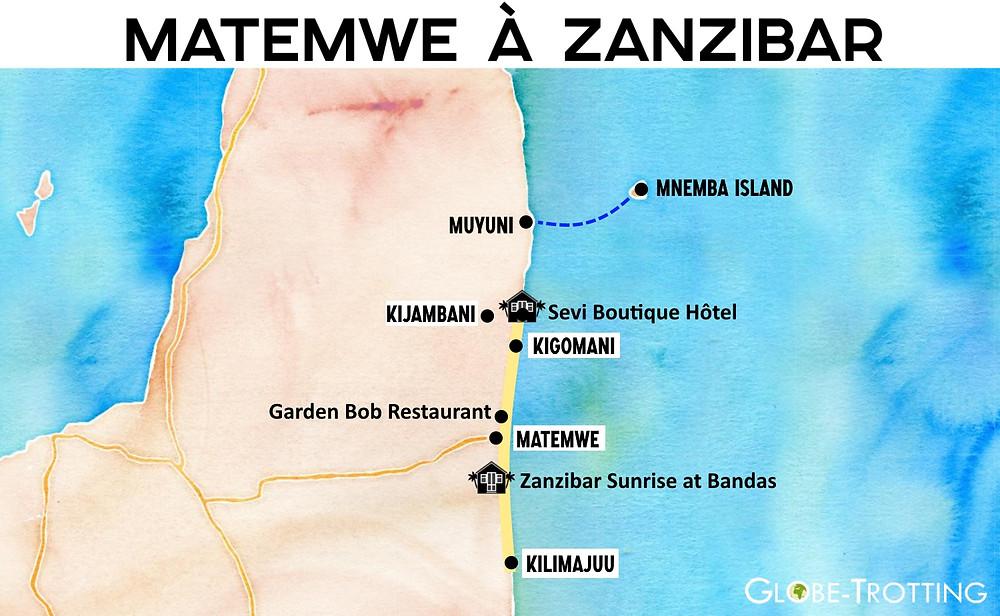 Plan de Matemwe Zanzibar
