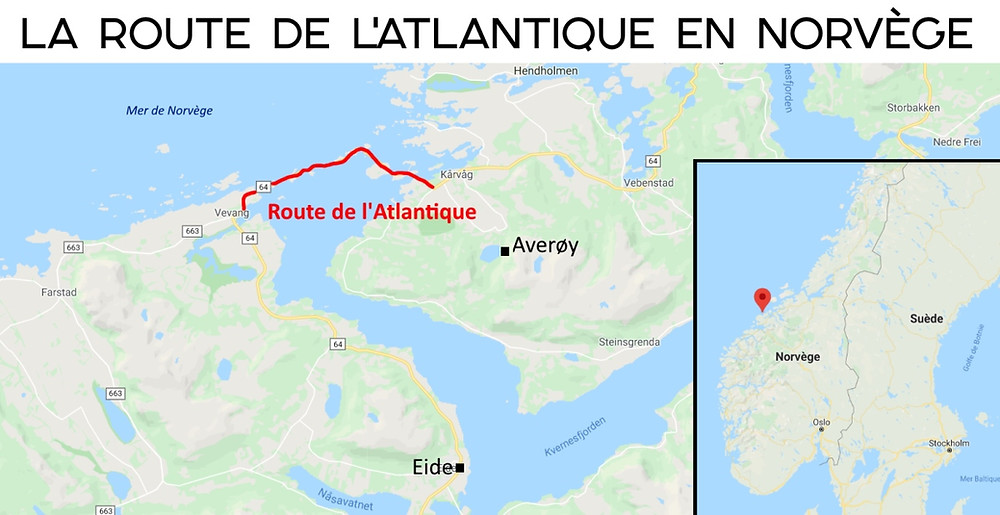 Carte route de l'atlantique